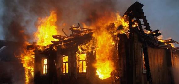 За трое суток пожар в Юргамышском районе унес жизни  семи человек шесть из которых дети
